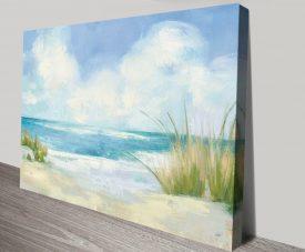 Wind & Waves Seascape Art Print on Canvas