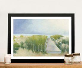 Buy a Framed Beach Walk Seascape Print