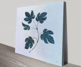 Botanical Study lll in Blue Quality Canvas Print