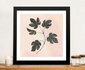 Botanical Study in Blush Framed Wall Art
