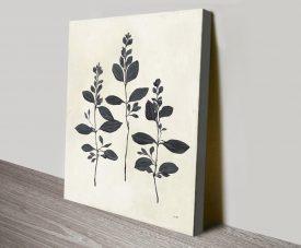 Buy Botanical Study lV Floral Canvas Print