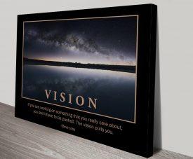 Vision Motivational Artwork on Canvas
