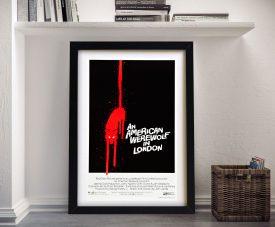 Framed American Werewolf Movie Poster