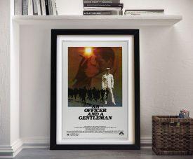 An Officer and a Gentleman Framed Film Poster