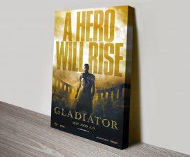 Gladiator Movie Poster Print on Canvas