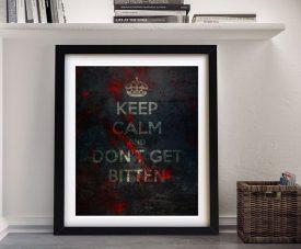 Keep Calm & Don't Get Bitten Framed Artwork
