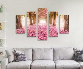 Path of Flowers Summery Split Panel Art