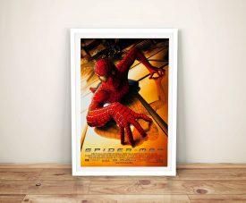 Framed Spiderman Movie Poster on Canvas