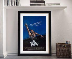 The Evil Dead Framed Film Poster on Canvas