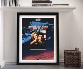 Top Gun Framed Movie Poster on Canvas