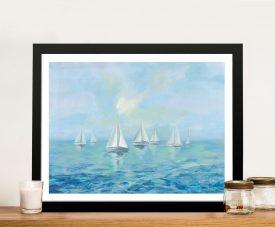 Boats in the Haze Framed Wall Art