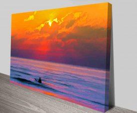 Dusk Vigilance Surfscape Print on Canvas