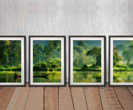 Jungle Lifelines Quad Canvas Art Set