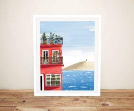 Las Palmas Framed Seascape Print on Canvas