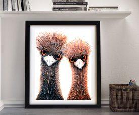 Quirky Emu Duo Linda Callaghan Print