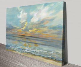 Rhythmic Sunset Waves Silvia Vassileva Seascape