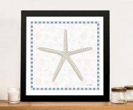 Beach Days lll Starfish Mixed Media Print