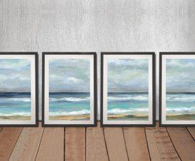 Seashore Silvia Vassileva Quad Art Set on Canvas