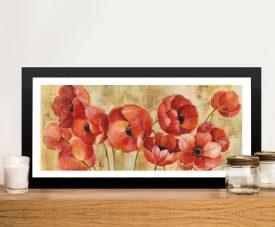 Summer Anemones Framed Panoramic Print