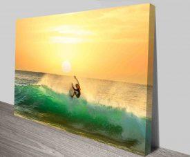 Sunset Slide Stretched Canvas Surfscape