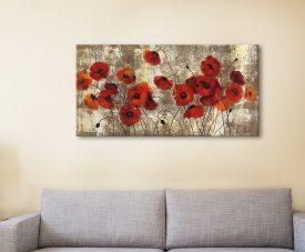 Buy Tender Poppies Panoramic Floral Art