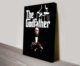 The Godfather Film Poster Print on Canvas