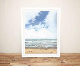 Buy Walk on the Beach Framed Art on Canvas