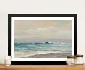 Whispering Wave Framed Print on Canvas
