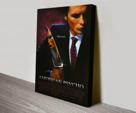 Stretched Canvas American Psycho Film Poster