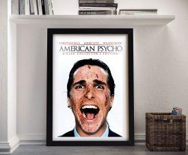 American Psycho Framed Canvas Film Poster