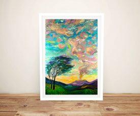 Framed Dream Landscape Print on Canvas