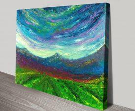 Buy Purple Hug Finger Painted Landscape Print