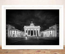 Brandenburg Gate Monochrome Framed Print