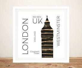 Urban Art LONDON Big Ben Framed Art Print