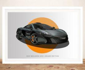 Buy a Framed 2015 McLaren 650s LeMans Art Print