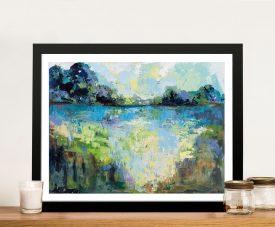 Tranquillity Framed Landscape Canvas Print