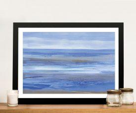 Summer Morning Framed Abstract Seascape