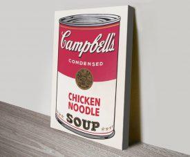 Campbell's Soup Pop Art Quality Canvas Print