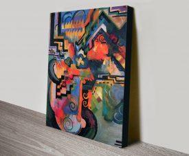 Coloured Composition Macke Print on Canvas