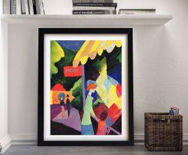 Fashion Window Framed Macke Print on Canvas