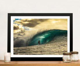 Ricardo Rafaski Pipeline Framed Surfing Art