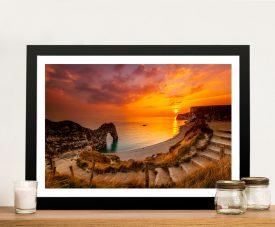 Buy Sea Stairs Framed Coastal Art Print