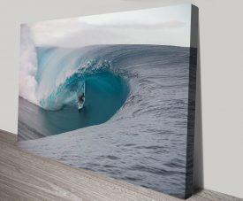 Teahupo'o Surf Art Quality Canvas Print