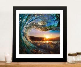 Crystalline Barrels Surfscape Print on Canvas