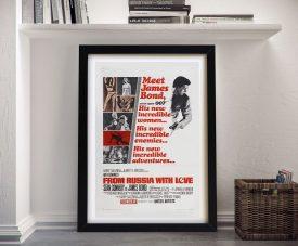 Framed Vintage James Bond Film Poster