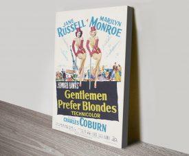 Gentlemen Prefer Blonds Film Poster on Canvas