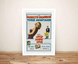 Framed Let's Make Love Vintage Poster Print