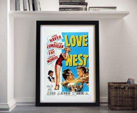 Love Nest Framed Vintage Movie Poster