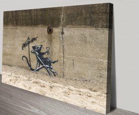 Banksy Rat in a Deck Chair Graffiti Art Print