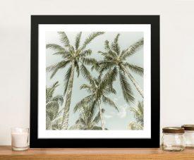 Lovely Vintage Palm Trees Framed Wall Art